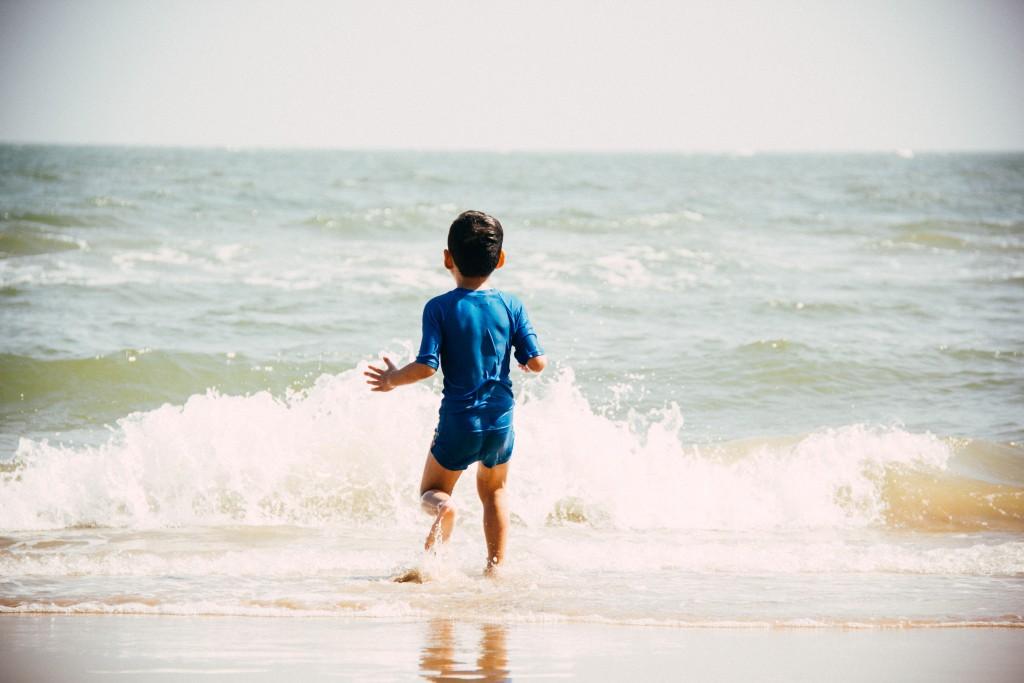 Polsbandje: extra hulp aan het strand.