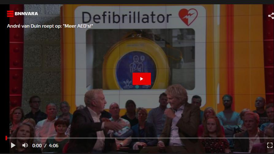 Oproep tot meer AED's bij De Wereld Draait Door